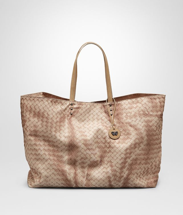 BOTTEGA VENETA SHOPPER SAND IN INTRECCIOLUSION Borsa Shopping D fp