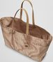 BOTTEGA VENETA SHOPPER SAND IN INTRECCIOLUSION Borsa Shopping D dp