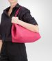 BOTTEGA VENETA SHOPPER ROSA SHOCK IN NAPPA INTRECCIATA Borsa Shopping D lp