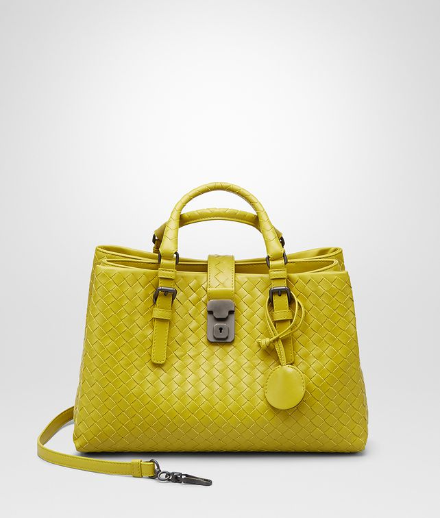 BOTTEGA VENETA BORSA ROMA NEW CHARTREUSE IN LIGHT CALF INTRECCIATO Borsa a Mano D fp