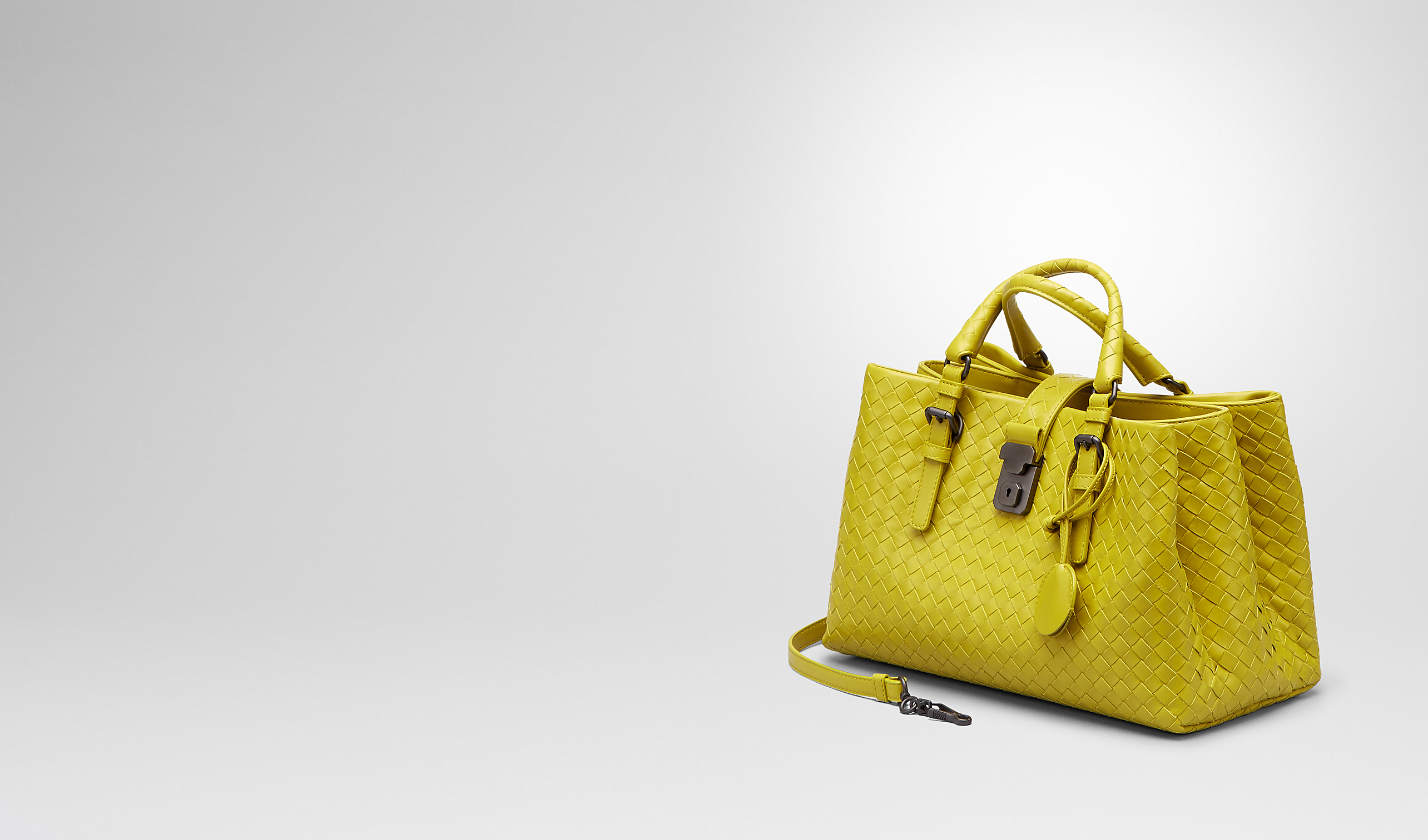 BOTTEGA VENETA Borsa a Mano D BORSA ROMA NEW CHARTREUSE IN LIGHT CALF INTRECCIATO pl