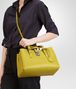 BOTTEGA VENETA BORSA ROMA NEW CHARTREUSE IN LIGHT CALF INTRECCIATO Borsa a Mano D lp