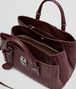 BOTTEGA VENETA Aubergine Intrecciato Light Calf Roma Bag Top Handle Bag D dp