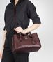 BOTTEGA VENETA Aubergine Intrecciato Light Calf Roma Bag Top Handle Bag D lp