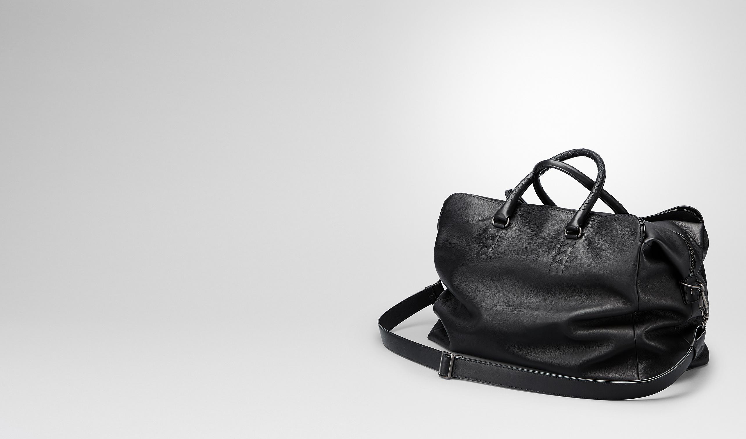 BOTTEGA VENETA Duffel Bag U Nero Drap Calf Duffel bag pl