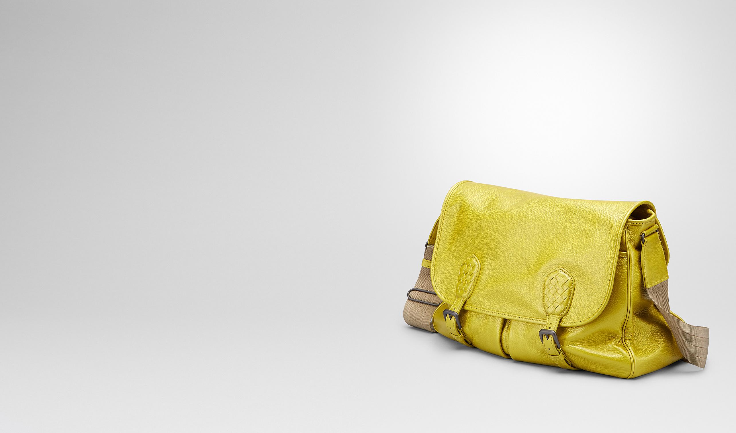 BOTTEGA VENETA Crossbody bag D New Chartreuse Cervo Metal Gardena Bag pl