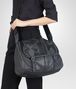 BOTTEGA VENETA NEW DARK GREY  PONY WAXED LEATHER GARDENA BAG Crossbody bag D ap