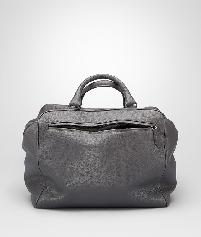 BOTTEGA VENETA BRERA TASCHE AUS MADRAS HERITAGE UND PONY-DETAILS MEDIUM GREY Shopper U fp
