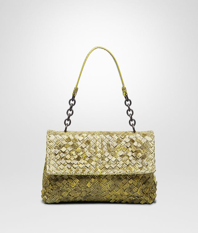 BOTTEGA VENETA New Chartreuse Intreccio Tobu Ayers Olimpia Bag Shoulder or hobo bag D fp