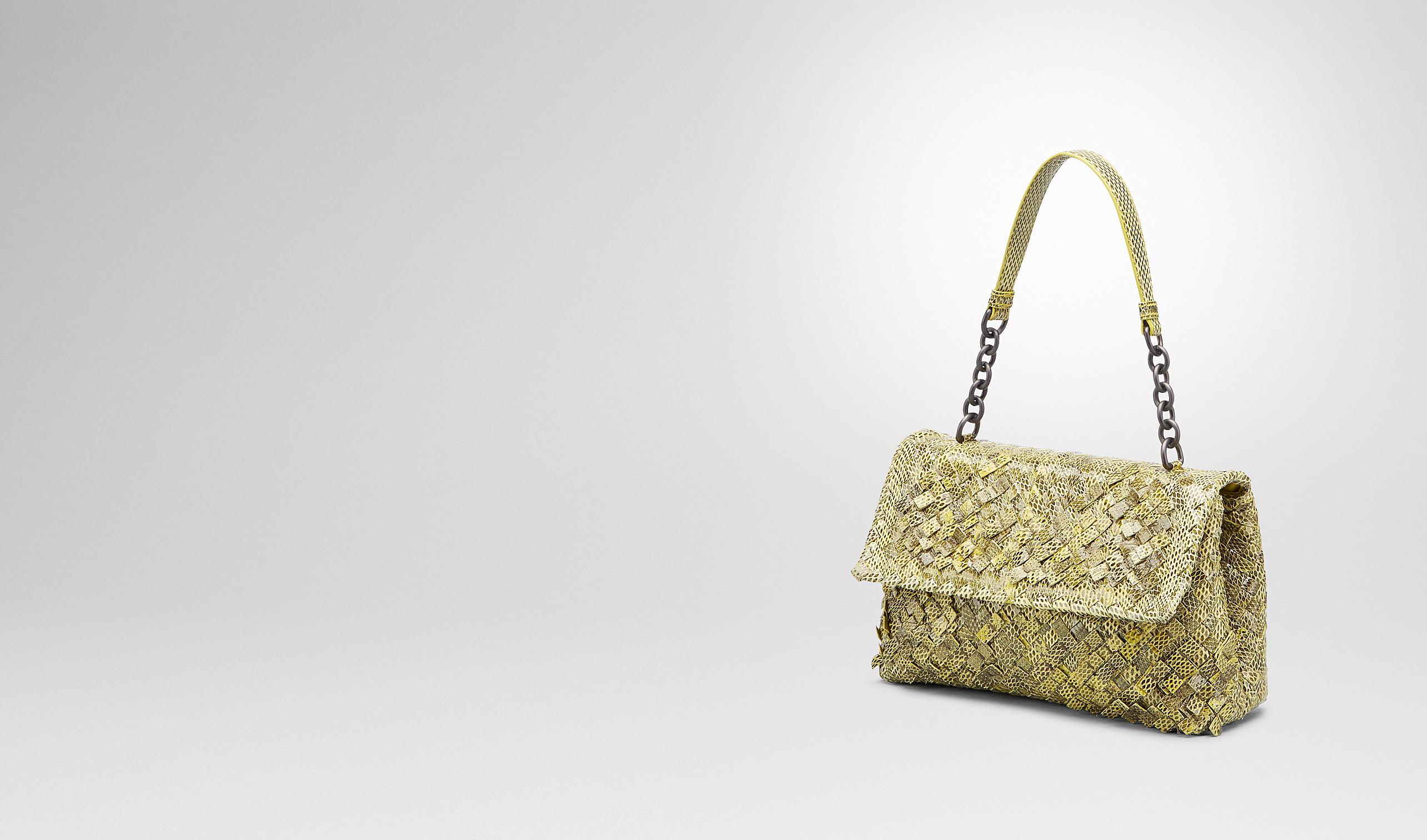 BOTTEGA VENETA Shoulder or hobo bag D New Chartreuse Intreccio Tobu Ayers Olimpia Bag pl