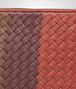 BOTTEGA VENETA PORTE-DOCUMENTS BURNT RED AUBERGINE EDOARDO EN CUIR CLUB FUMÉ INTRECCIATO Petit sac U ep