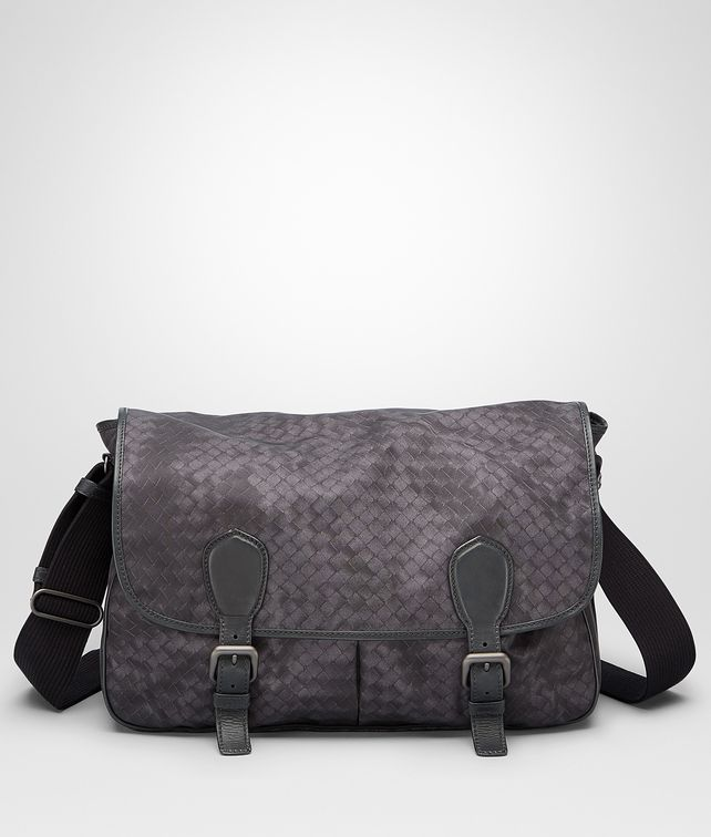 BOTTEGA VENETA New Dark Grey Intrecciolusion Gardena Bag Messenger Bag U fp