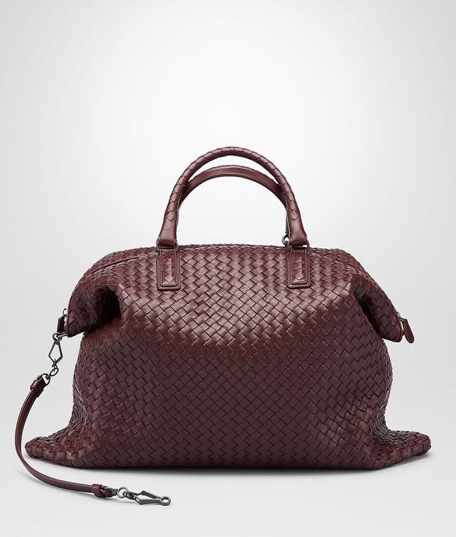 BOTTEGA VENETA Aubergine Intrecciato Nappa Convertible Bag Top Handle Bag D fp