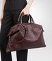 BOTTEGA VENETA Aubergine Intrecciato Nappa Convertible Bag Top Handle Bag D ap