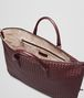 BOTTEGA VENETA AUBERGINE INTRECCIATO NAPPA CONVERTIBLE BAG Top Handle Bag D dp