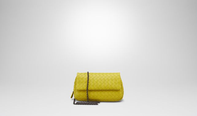 New Chartreuse Intrecciato Nappa Messenger Bag