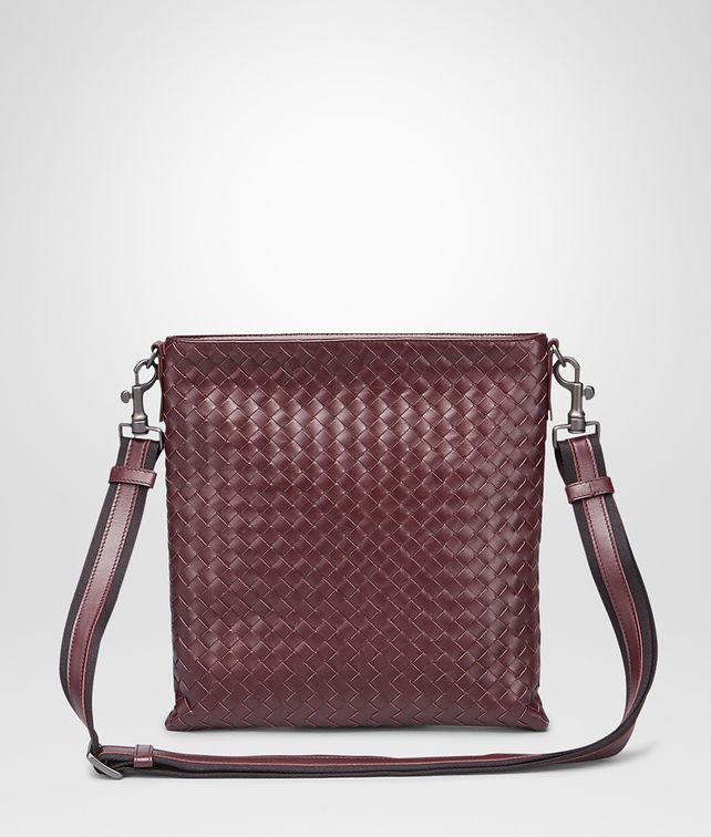 BOTTEGA VENETA Aubergine Nero Intrecciato Vn Cross Body Messenger Messenger Bag U fp