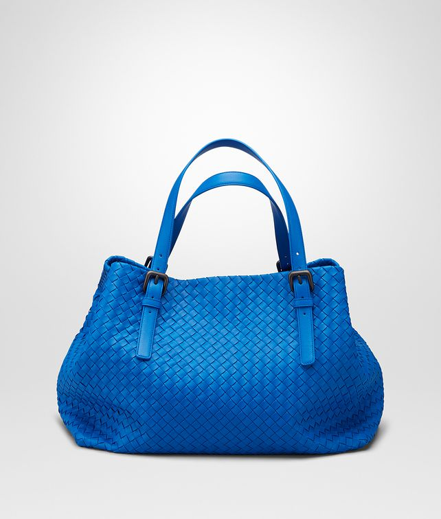 BOTTEGA VENETA SHOPPER AUS NAPPALEDER INTRECCIATO SIGNAL BLUE Shopper D fp