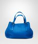 BOTTEGA VENETA SHOPPER SIGNAL BLUE IN NAPPA INTRECCIATA Borsa Shopping D fp
