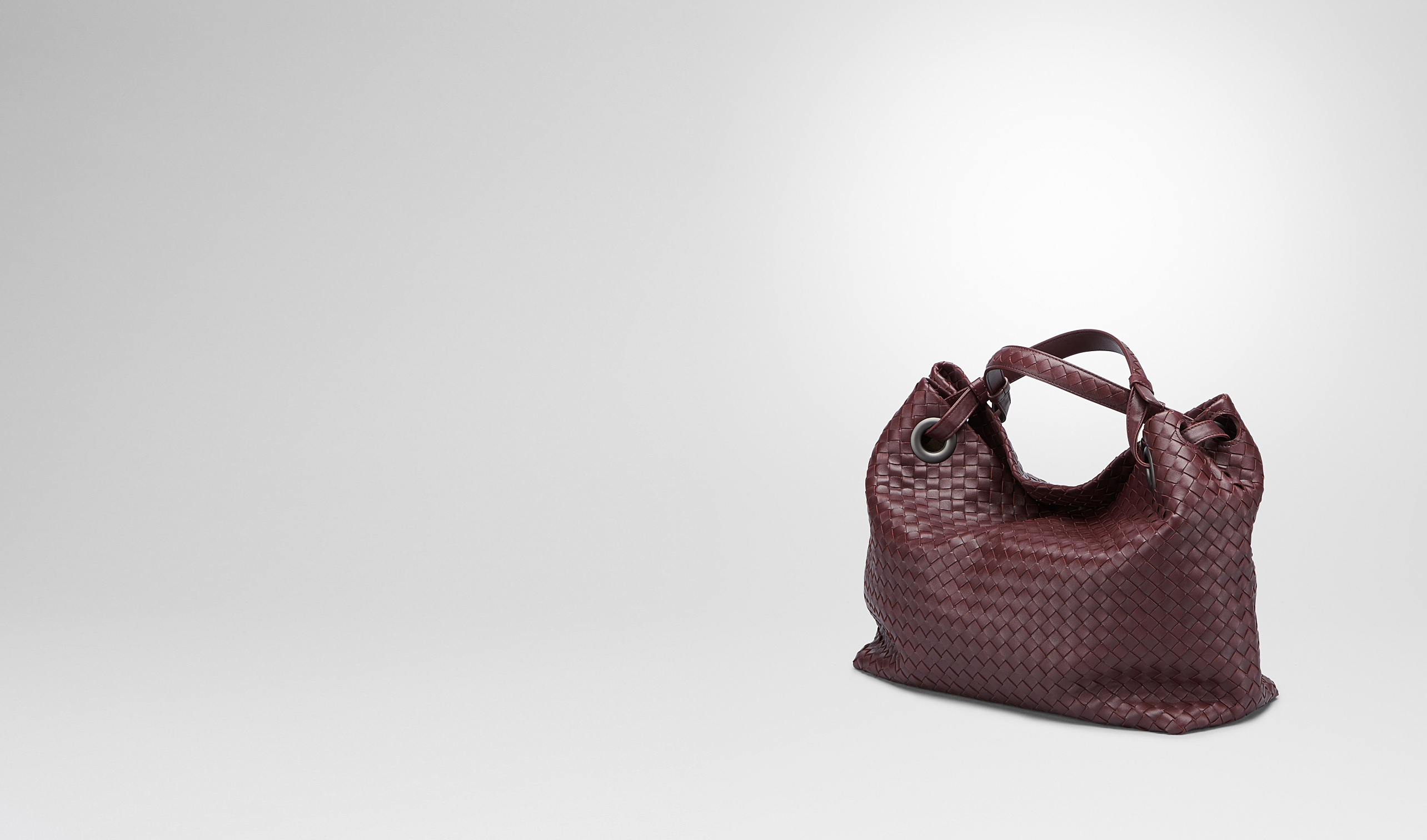BOTTEGA VENETA Shoulder or hobo bag D AUBERGINE INTRECCIATO NAPPA BAG pl