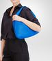 BOTTEGA VENETA Signal Blue Intrecciato Nappa Veneta Shoulder or hobo bag D ap