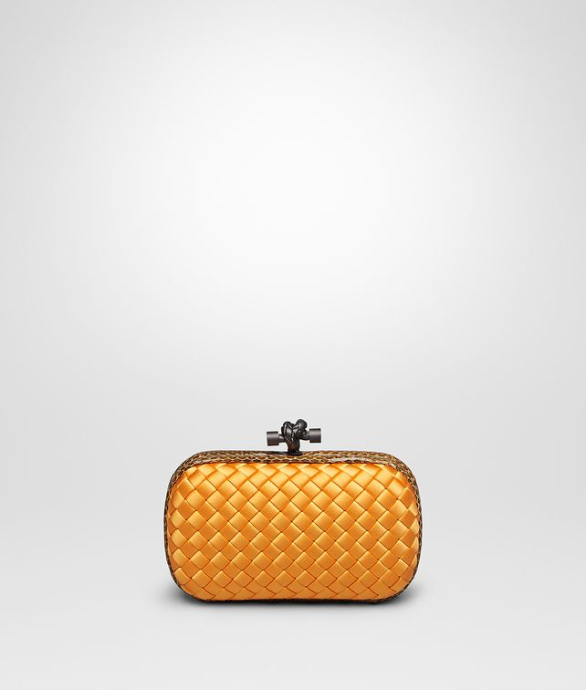 BOTTEGA VENETA KNOT CLUTCH IN SUN INTRECCIO IMPERO, AYERS DETAILS Clutch D fp
