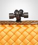 BOTTEGA VENETA KNOT CLUTCH IN SUN INTRECCIO IMPERO, AYERS DETAILS Clutch D ep