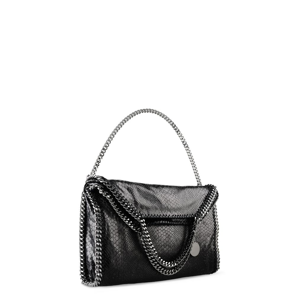 Falabella Alter Snakeskin Fold Over Tote - STELLA MCCARTNEY