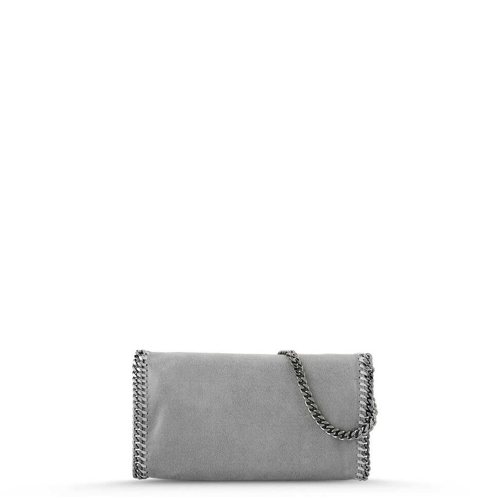 Light Grey Falabella Shaggy Deer Clutch - STELLA MCCARTNEY