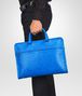 BOTTEGA VENETA Signal Blue Intrecciato Light Calf Briefcase Business bag U ap