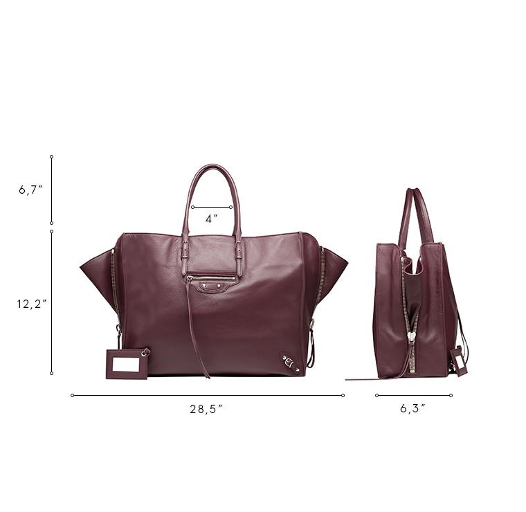 BALENCIAGA Papier ZA Handbag D Balenciaga Papier A4 Zip Around n