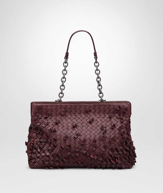 BOTTEGA VENETA Aubergine Intreccio Tobu Bag Shoulder or hobo bag D fp