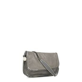 Light Grey Falabella Shaggy Deer Messenger Bag
