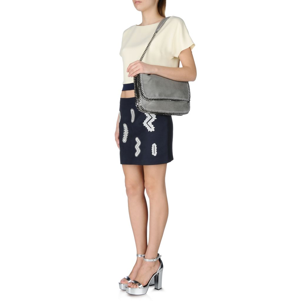 Light Grey Falabella Shaggy Deer Messenger Bag - STELLA MCCARTNEY