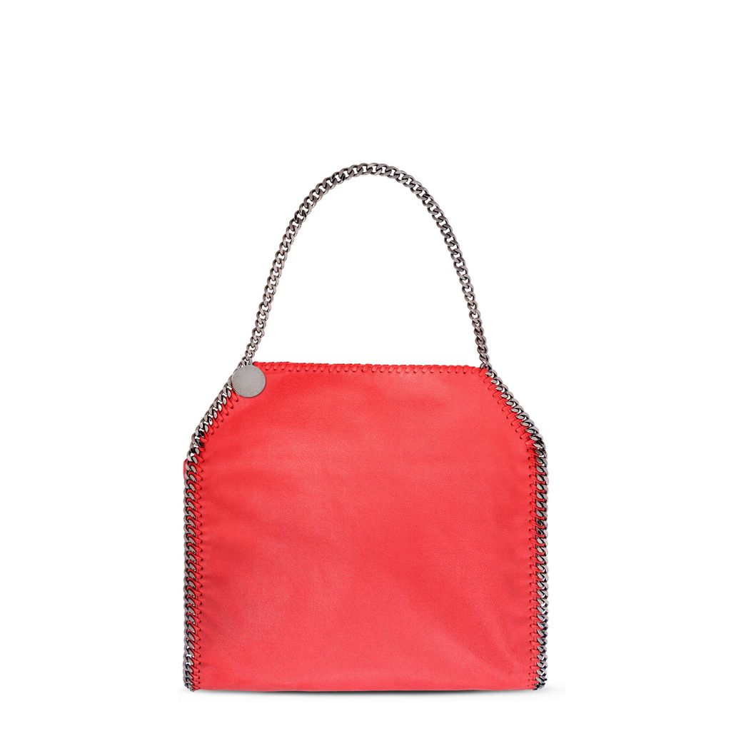 Flame Falabella Shaggy Deer Small Tote - STELLA MCCARTNEY