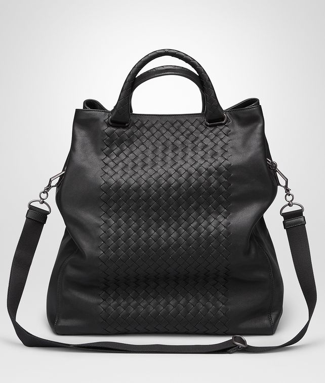 BOTTEGA VENETA TOTE BAG IN NERO INTRECCIATO NAPPA Tote Bag U fp