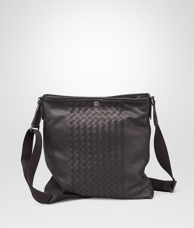 BOTTEGA VENETA MESSENGER BAG IN NERO INTRECCIATO NAPPA Messenger Bag U fp