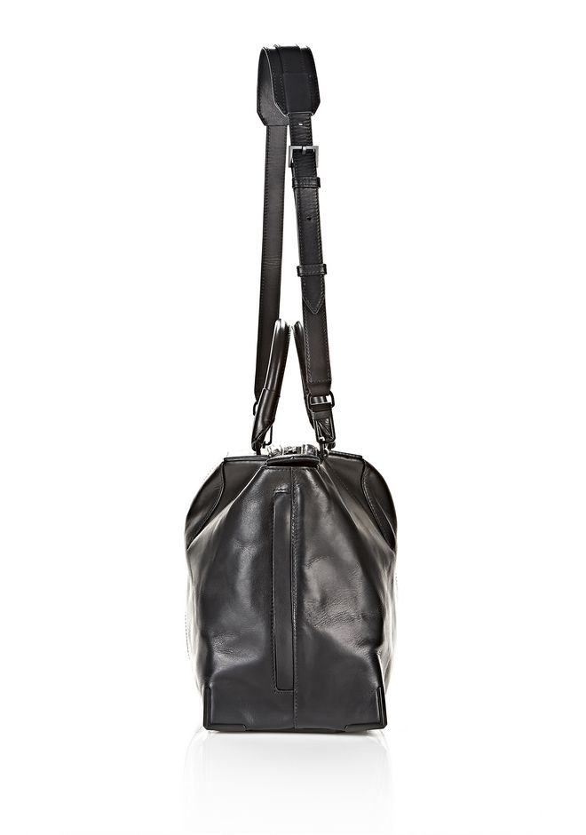 ALEXANDER WANG PRISMA SKELETAL SATCHEL IN SOFT BLACK WITH MATTE BLACK TOTE Adult 12_n_a