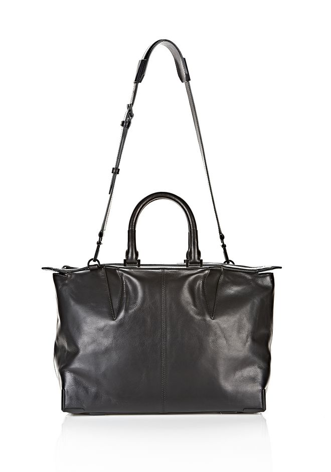ALEXANDER WANG PRISMA SKELETAL SATCHEL IN SOFT BLACK WITH MATTE BLACK TOTE Adult 12_n_e
