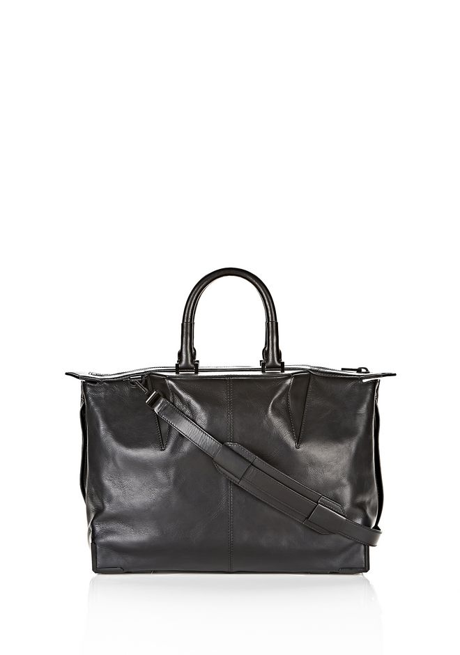 ALEXANDER WANG PRISMA SKELETAL SATCHEL IN SOFT BLACK WITH MATTE BLACK TOTE Adult 12_n_f