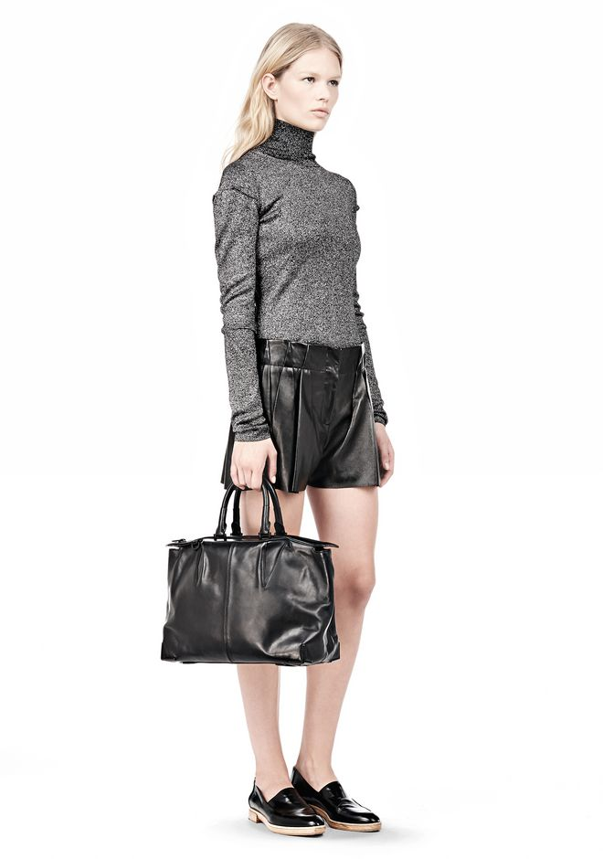 ALEXANDER WANG PRISMA SKELETAL SATCHEL IN SOFT BLACK WITH MATTE BLACK TOTE Adult 12_n_r