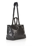 ALEXANDER WANG PRISMA SKELETAL SATCHEL IN SOFT BLACK WITH MATTE BLACK TOTE Adult 8_n_d