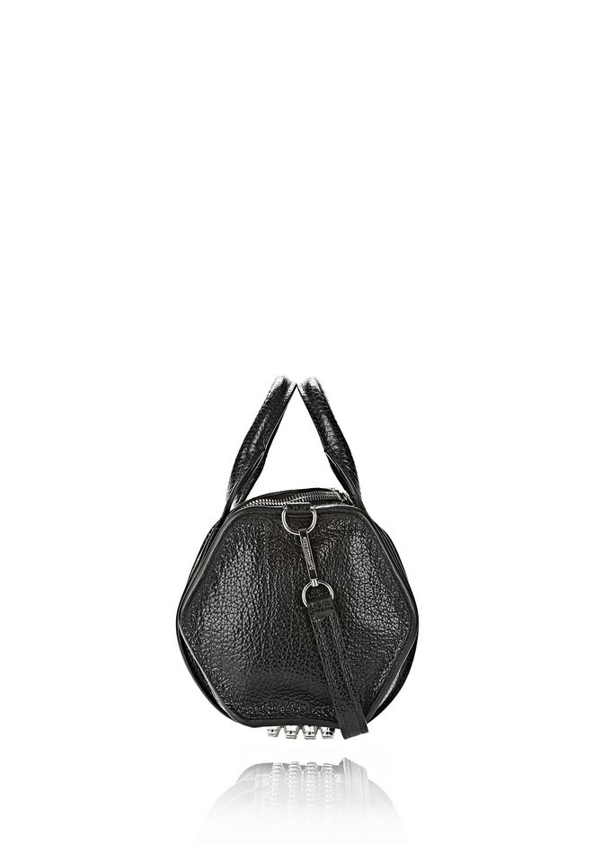 ALEXANDER WANG INSIDE OUT ROCKIE SLING IN SHINY BLACK Shoulder bag Adult 12_n_e