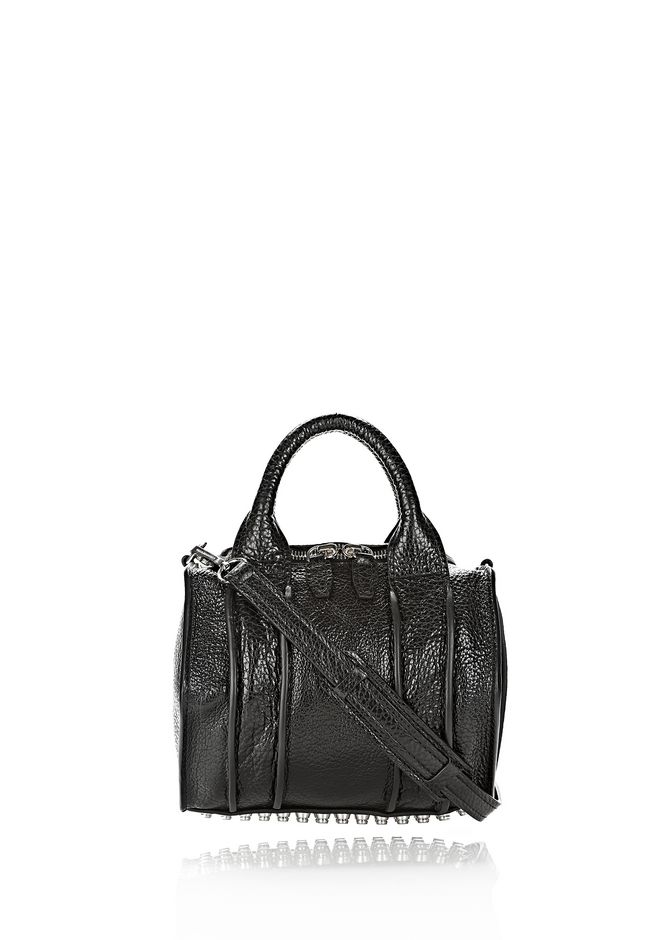 ALEXANDER WANG INSIDE OUT ROCKIE SLING IN SHINY BLACK Shoulder bag Adult 12_n_f