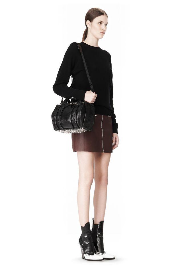 ALEXANDER WANG INSIDE OUT ROCKIE SLING IN SHINY BLACK Shoulder bag Adult 12_n_r