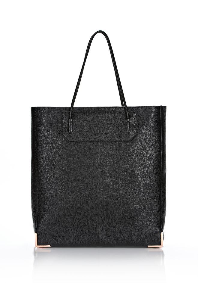 ALEXANDER WANG sale-w-handbags PRISMA SKELETAL TOTE IN BLACK WITH ROSE GOLD