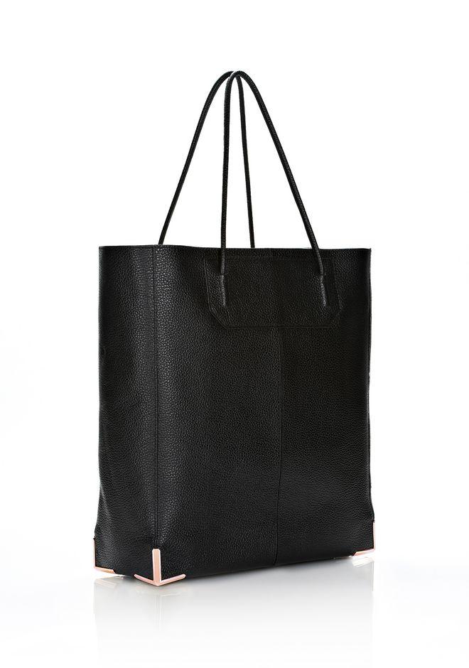 ALEXANDER WANG PRISMA SKELETAL TOTE IN BLACK WITH ROSE GOLD  Shoulder bag Adult 12_n_d