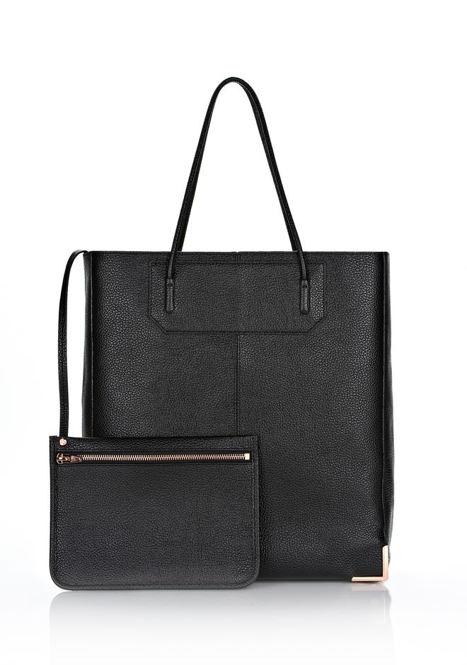 ALEXANDER WANG PRISMA SKELETAL TOTE IN BLACK WITH ROSE GOLD  TOTE Adult 12_n_e