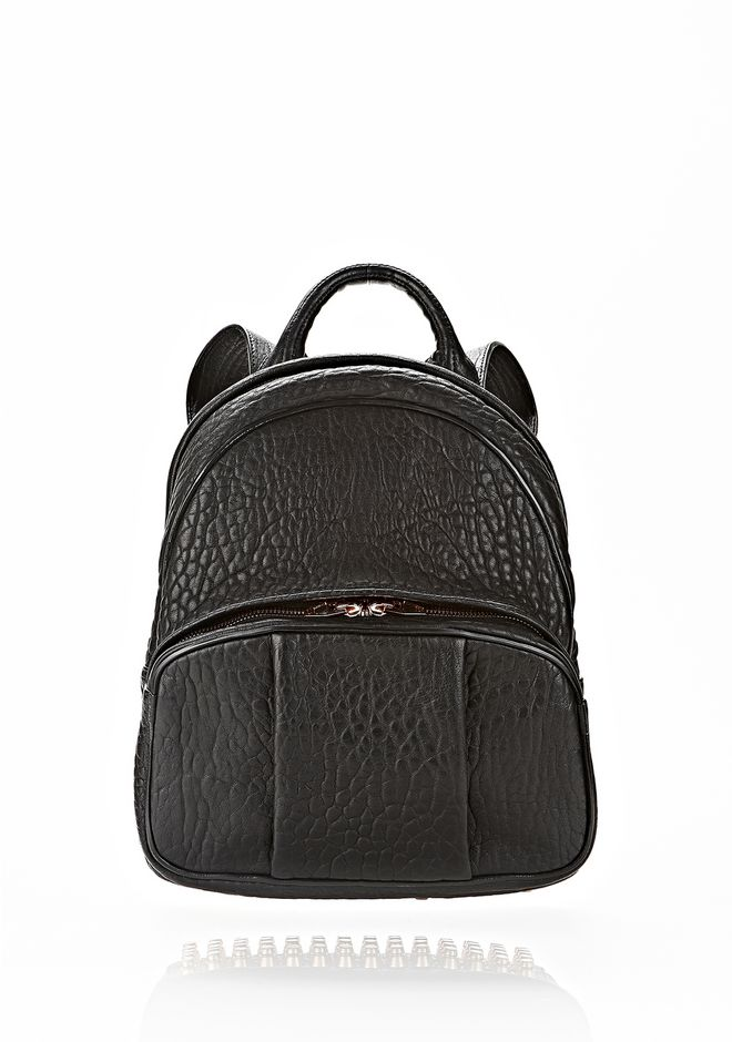 ALEXANDER WANG BACKPACKS Women DUMBO BACKPACK IN BLACK WITH ROSE GOLD