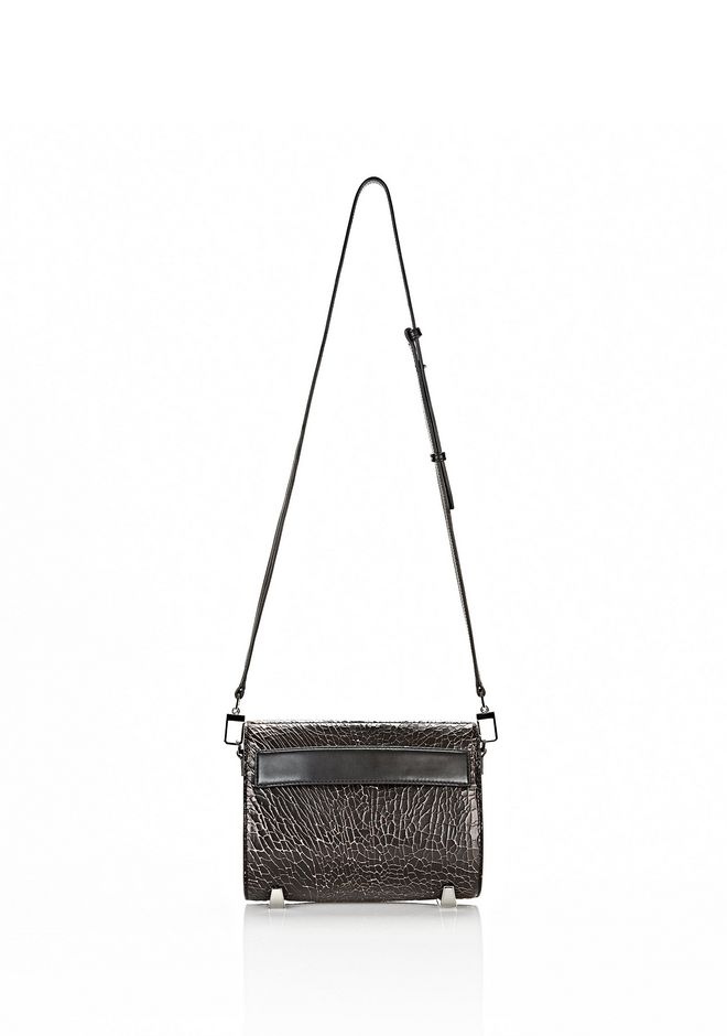 ALEXANDER WANG CHASTITY MINI IN HEAVY CRACKED BLACK WITH RHODIUM Shoulder bag Adult 12_n_e